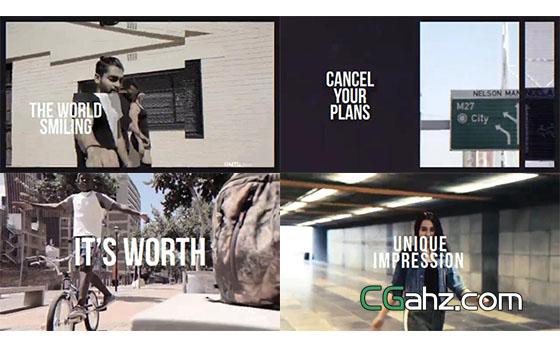 时尚都市宣传片视频剪辑片头AE模板