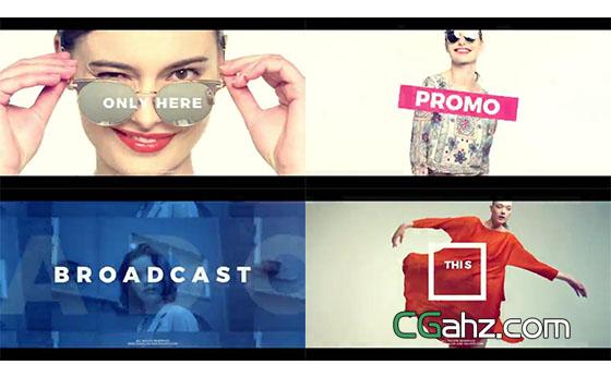 快速的时尚动感宣传片AE模板