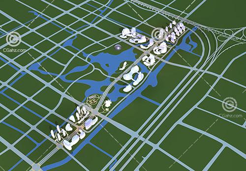 分片区的规划3D模型下载
