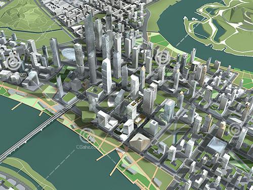 城市规划建筑群模型下载