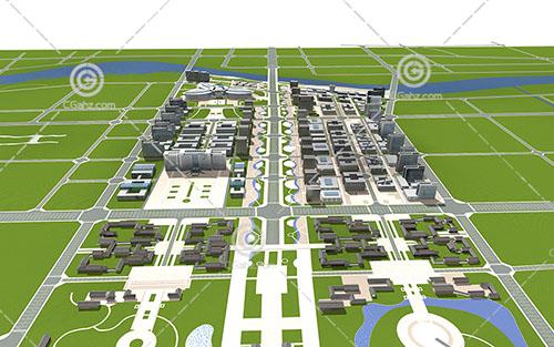 中式的住宅区3D模型下载