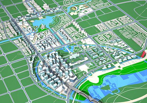 現代高端大型規劃用地3D模型下載
