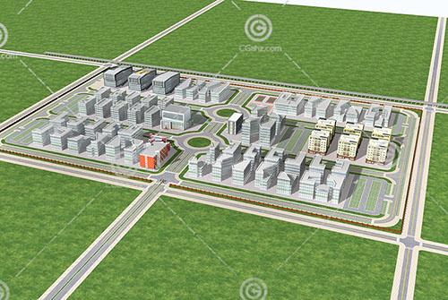 宿舍样式的住宅区3D模型下载