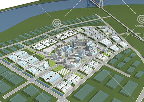 商业集聚区规划模型下载