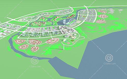 大型住宅区规划模型下载