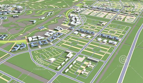 新中式的规划区3D模型下载