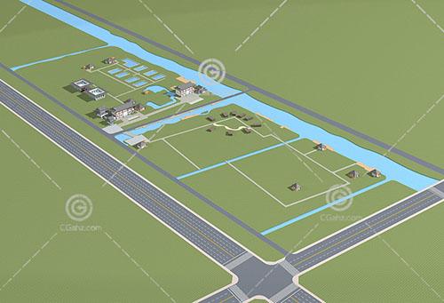 中式的公建規劃模型下載