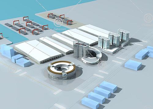 簡單的規劃區3D模型下載