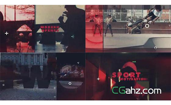 动感体育运动或嘻哈城市主题宣传片AE模板