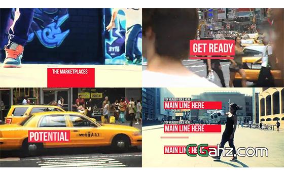 独特嘻哈城市主题电视频道整体包装