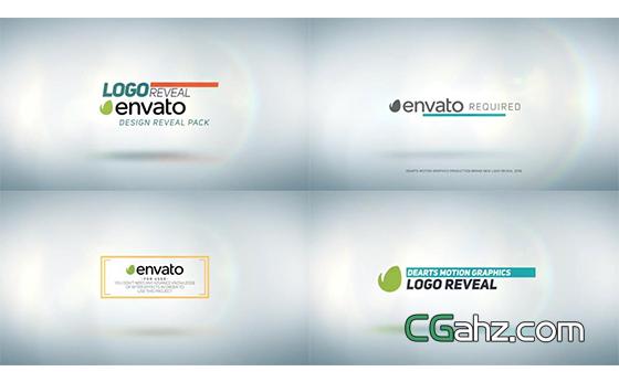 明亮干净设计的标志排版开场动画AE模板