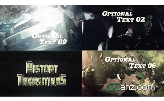录像风格的复古特效展示AE模板