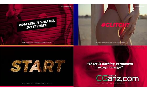 色彩运用和排版制作都很大胆的时尚宣传片AE模板