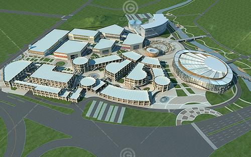 现代大型商业综合体公建模型下载