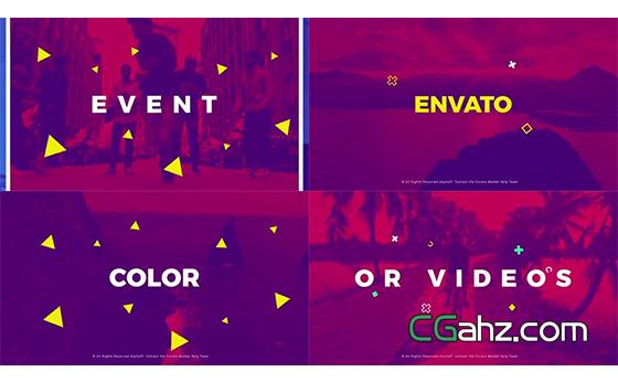 时尚元素图文排版片头动画AE模板