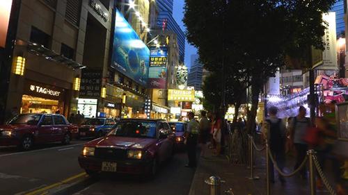 香港城市人流視頻素材
