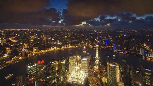 上海城市风光视频素材
