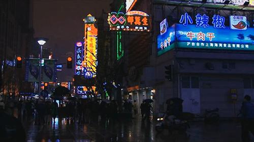 上海街邊小吃視頻素材