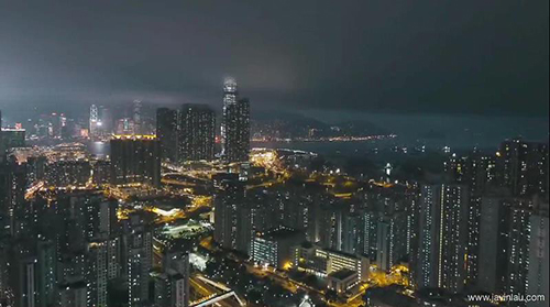 香港城市建筑視頻素材