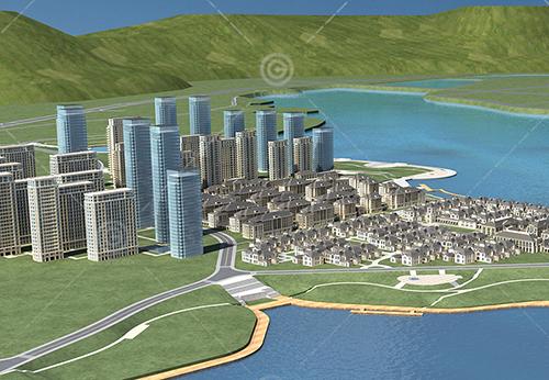 规划建筑群3D模型下载
