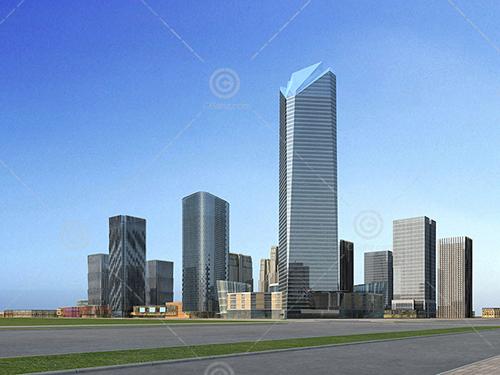现代办公建筑规划模型下载