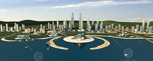 现代化城市规划模型下载