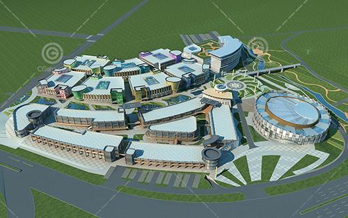 现代商业综合体建筑模型下载