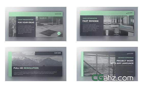 现代优雅企业排版图文展示AE模板