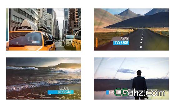快速移动展示的图片排版组合AE模板