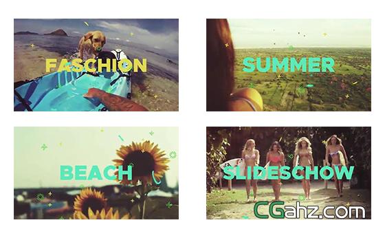 欢乐夏天主题展示片头AE模板