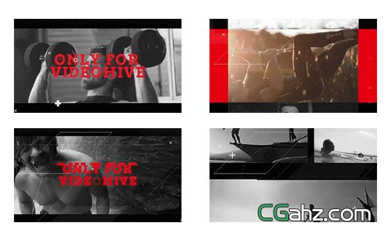 极限运动视频影像剪辑宣传片AE模板