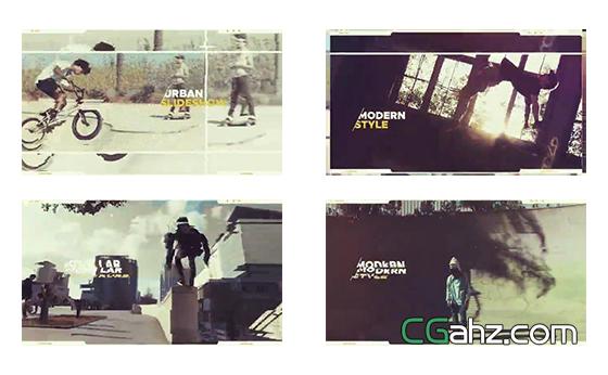 乐观城市节奏感幻灯片展示AE模板