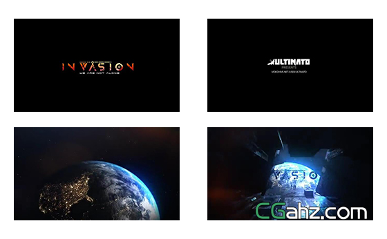 史诗科幻电影般的标题开场特效AE模板