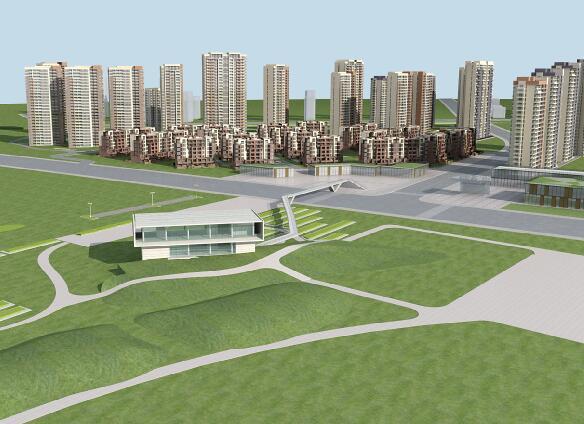 商業,高層建筑,多層建筑組合3D模型下載