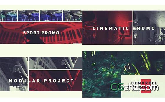 可作视频剪辑展示或作品集的AE模板