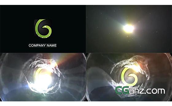 漂亮的粒子水泡logo揭示开场特效AE