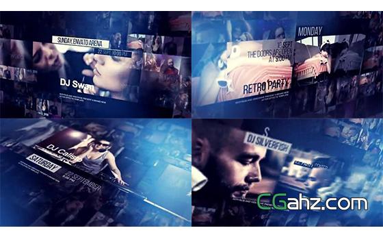 時尚音樂活動或明星演唱會的宣傳視頻AE模板