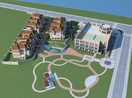 別墅群,商業綜合體3D模型下載