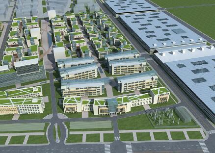 办公建筑区3D模型下载