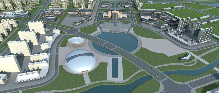 城市建筑规划模型下载
