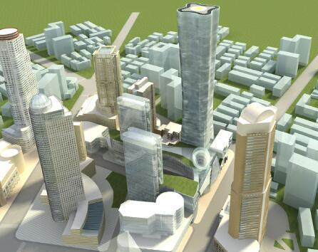 高層辦公樓建筑模型
