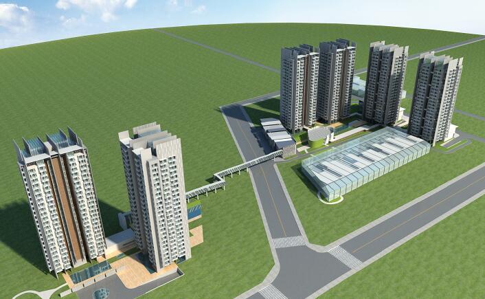 高層的住宅模型下載