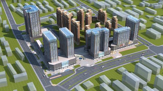臨街高層住宅3D模型下載