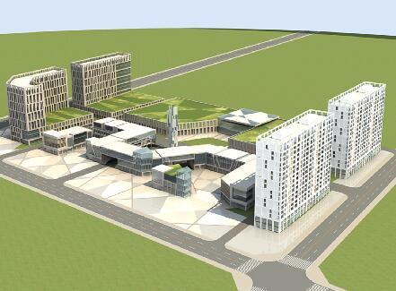 大型辦公建筑3D模型下載