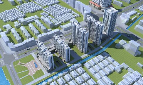 住宅,办公楼规划3D模型下载