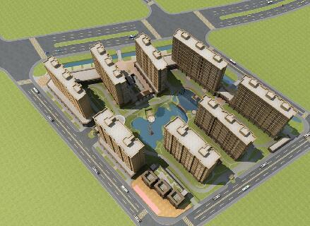 簡單的高層住宅3D模型下載