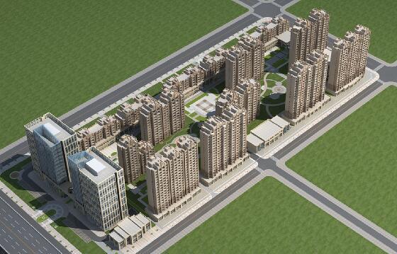 artdeco風格的商業建筑群3D模型下載