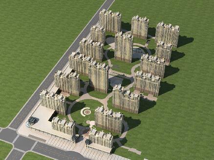 商業街,高層住宅建筑模型下載