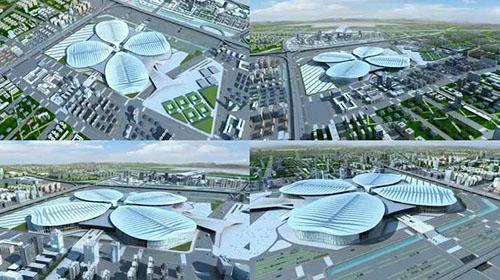 上海國際會展中心 虹橋機場模型下載