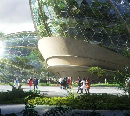種滿植物的建筑效果圖表現作品